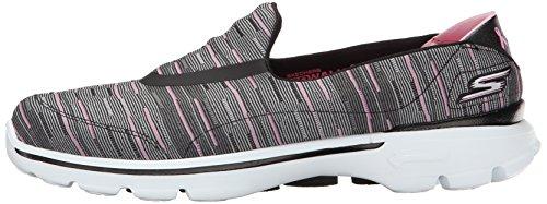 3 Pour Rose Skechers Femmes Noir Gowalk Chaussures De Marche TqqIR