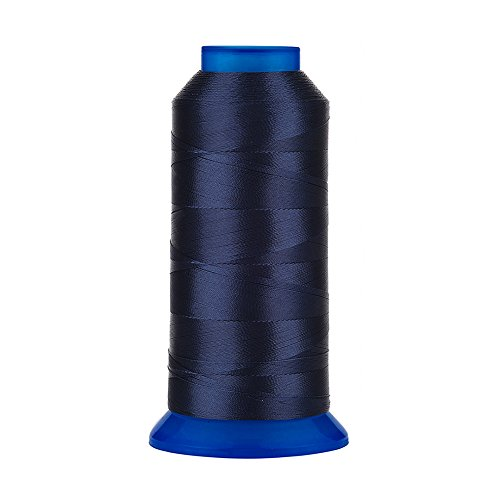 Selric [1500Yards / 130g / 30 Colors Available] UV Resistant High Strength Polyester Thread #69 T70 Size 210D/3 for Upholstery, Outdoor Market, Drapery, Beading, Purses, Leather (Navy Blue) ()