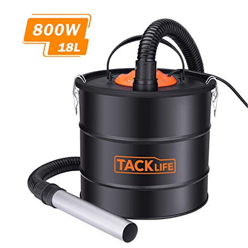 Dual Filtration System Ash Vacuum Cleaner 800W VAC Canister 5 Gallon Capacity Debris/Dust/Ash Collector, Suitable for Fire, Log Burners, Stoves-PVC03A (For Pellet Vacuum Ash Stoves)