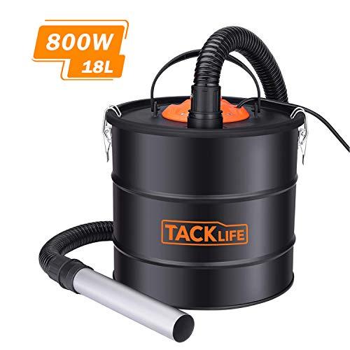 TACKLIFE Ash Vacuum, 5 Gallon 800 W 6 Peak hp Ash Vac, 1.2M Metal Hose, 5M Power Cord, Portable Debris/Dust/Ash Collector, Suitable for Fireplaces, Fire Pits, BBQ Grills, Coal Stoves - PVC03A (Hot Vacuum Ash)