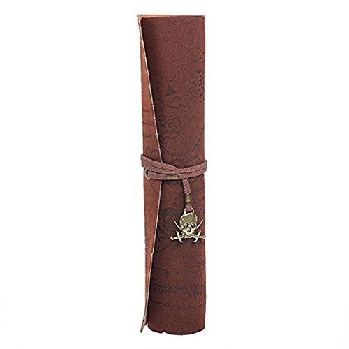 (Wakaka Handmade Leather Pen Case Pencil Holder Leather Stationery Pencil Roll Pouch/Pen Case Holder Organizer Soft Wrap Bag With Strap Gift For Writer,Students And Artist (brown))