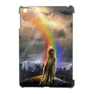 DIY High Quality Case for Ipad Mini 3D, Rainbow Wolf Phone Case - HL-R672164