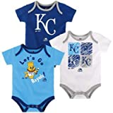 OuterStuff MLB Newborn (0M-9M) Infant (12M-24M) Go Team 3-Pack Creeper Set
