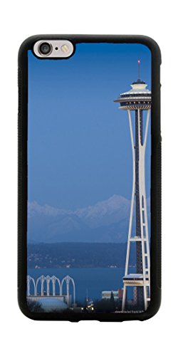 VUTTOO Case for Apple iPhone 7 Plus 5.5inch Only (NOT FIT 4.7inch) - Full Moon And Seattle Space Needle Case - Shock Absorption Protection Phone Cover Case