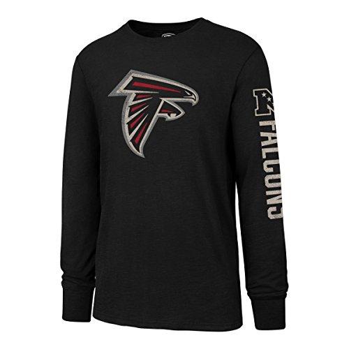 (NFL Atlanta Falcons Men's OTS Slub Long Sleeve Team Name Tee, Distressed Sinclair, XX-Large)