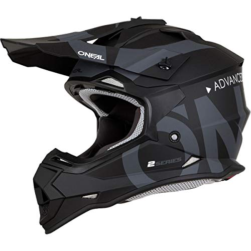 35ca8f9c726 O Neal Unisex-Adult Off Road 2SERIES Helmet (SLICK) Black Gray Large