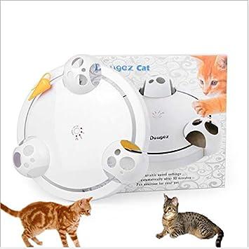 FINGO Nuevo Juguete eléctrico para Gatos El Gato Giradiscos Bandeja de Entretenimiento para Gatos El Gato Deranged Sin Sombra Rata Mascota Gato Compañero: ...