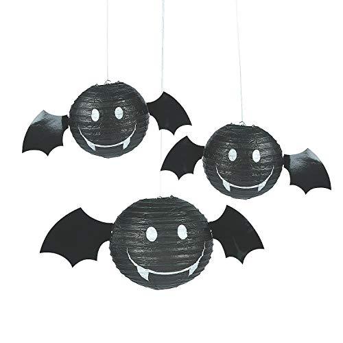 Fun Express - Paper Bat Lanterns Pdq - Party Decor - Hanging Decor - Lanterns - 12 Pieces by Fun Express (Image #1)