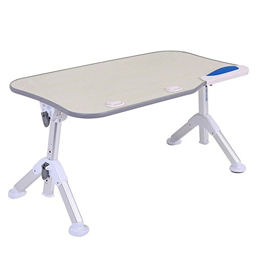 Omooly Adjustable Laptop Bed Tray Table, Portable Stable Standing Table with Foldable Triangular Legs, Notebook Stand Reading, Lap Desk Table for Sofa Couch Floor (Standard, gray+without fan) by Omooly (Image #1)