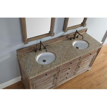 Double Bathroom Vanity with Carrara White Marble Top
