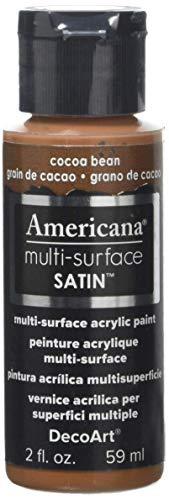 DecoArt Americana Multi-Surface Satin Acrylics Paint, 2-Ounce, Cocoa Bean