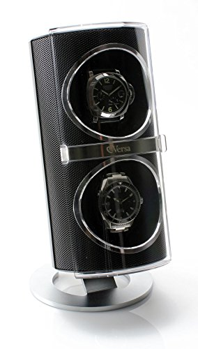 Versa Duo Double Watch Winder in Black (Winder Watch Dual Versa)