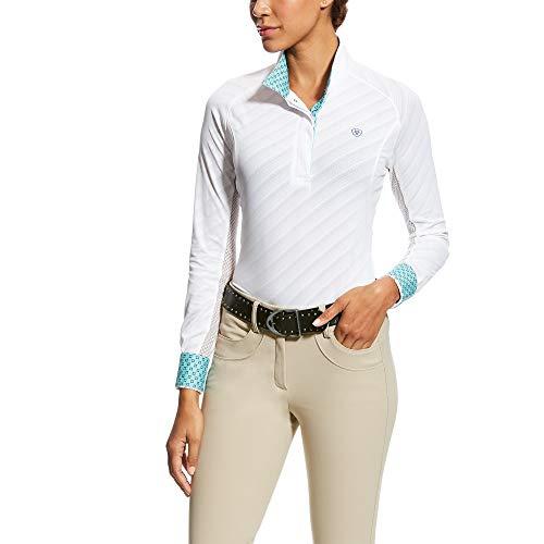 ARIAT Women's Marquis Show Shirt White Mesh Size Medium Regular