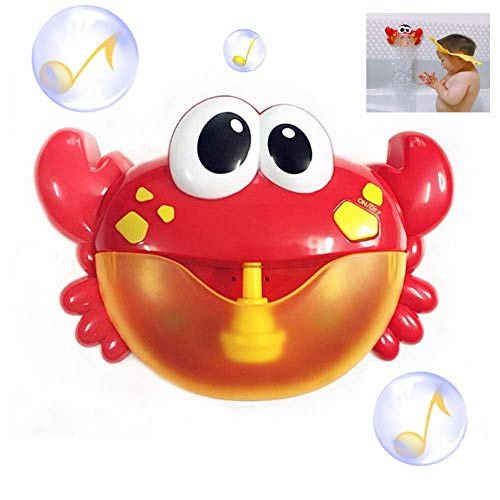 Effle Bath Bubble Maker, Baby Automatic Bubble Blower Machine Funny Crabs Baby Bath Toy with 12 Nursery Rhymes for Kids/Infants