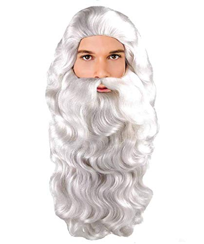 Santa Claus Adult Wig and Beard Set -