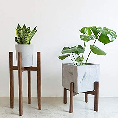 Pergolas Flower Stand Flower Stand Solid Wood Floor Plant Pot Rack Indoor Pot Rack Decorative Frame can Bear 20kg Balcony Flower Rack (Color : Brown, Size : 343430cm): Garden & Outdoor