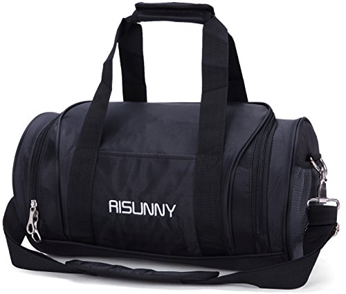 Cheap RISUNNY Barrel Fitness Gym Bag Small Travel Sports Bags for Men and Women (Small, Black)