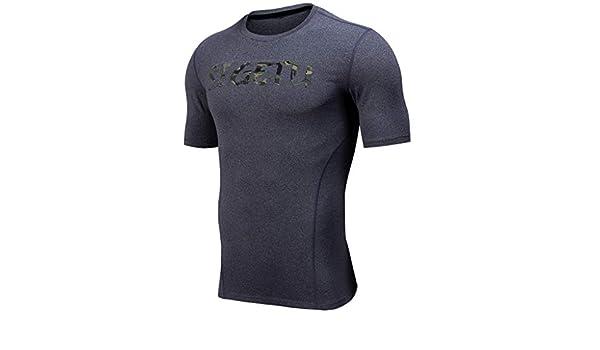 OPAKY Camisetas de Fitness Compresión Ropa Deportiva Manga Corta ...