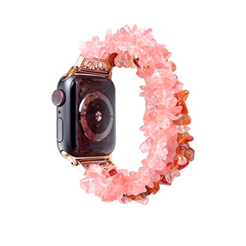 Glass Screen Bead Projection (VICCKI for Apple Watch 4 3 2 1Watch Band Beads Bracelet Jewelry Wristband Strap 38/40MM)