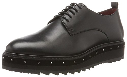 Oil Berlin Donna Black Scarpe Calf Liebeskind Nero Lh174500 Stringate Oxford 9895 8qHx4