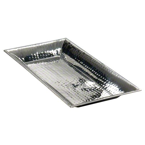 "American Metalcraft (HMRT1322) 22"" x 13"" Rectangular Hammered Stainless Steel Tray by American Metalcraft"