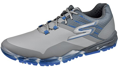 Skechers Performance Men's Go Golf Focus Golf Shoe, Gray/Blue, 9.5 M US