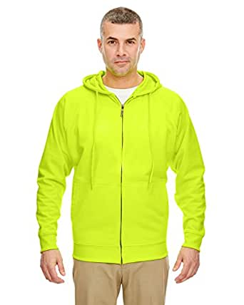 8463 UltraClub Thermal Full Zip Sweatshirt, Lime, S