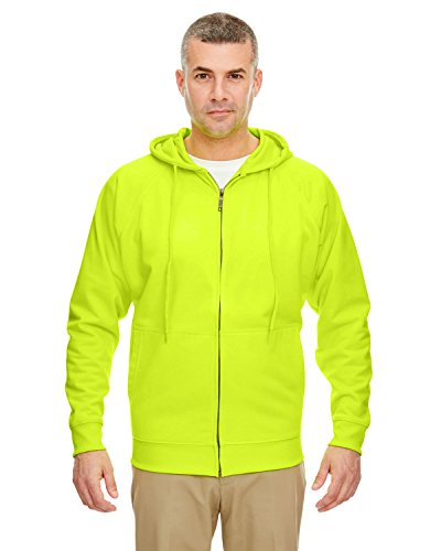8463 UltraClub Thermal Full Zip Sweatshirt, Lime, XL by UltraClub