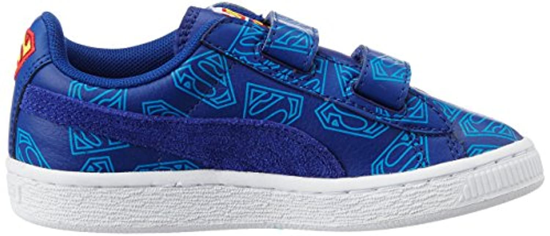 Puma Unisex Kids' Basket Superman Low-Top Trainer Blue Size: 1.5