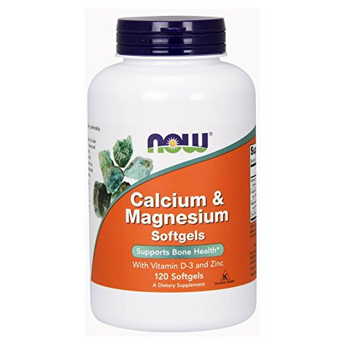 NOW Calcium Magnesium 120 Softgels
