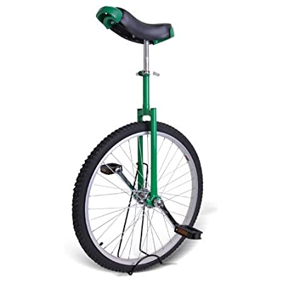 """24"""" Green Unicycle Stand Mountain Wheel Skidproof Moutain Tire Adjustable Height Sport Fitness Colors Opt"""