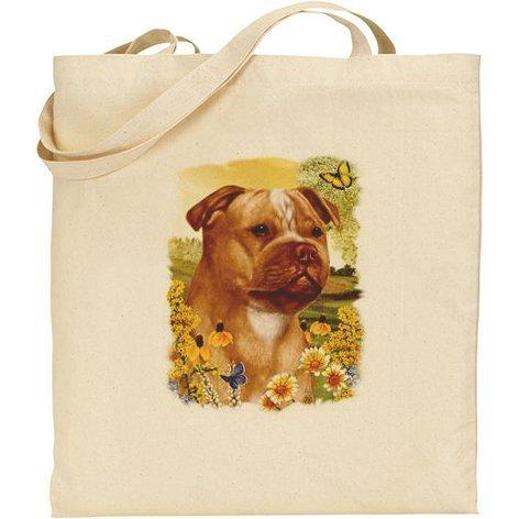 Tb–Staffordshire Bull Terrier cane cotone Borsa