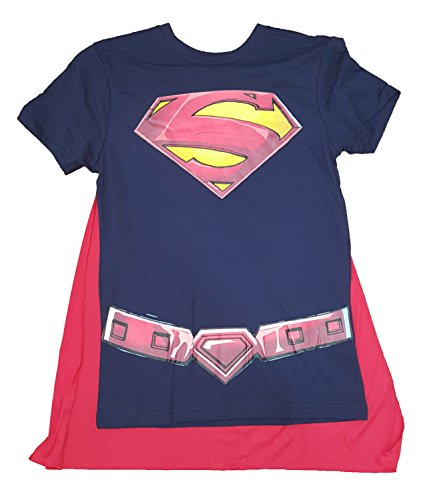 DC Comics Superman Costume Graphic T-Shirt w/ Cape - Large (Superman Costume For Sale)