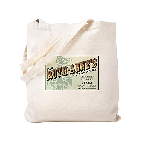 (CafePress Ruth Anne's Of Cicely, Alaska Natural Canvas Tote Bag, Cloth Shopping Bag)