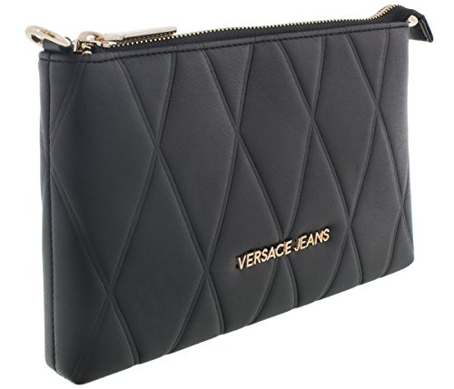 Versace EE3VSBPL2 E899 Black Wallet on chain for Womens