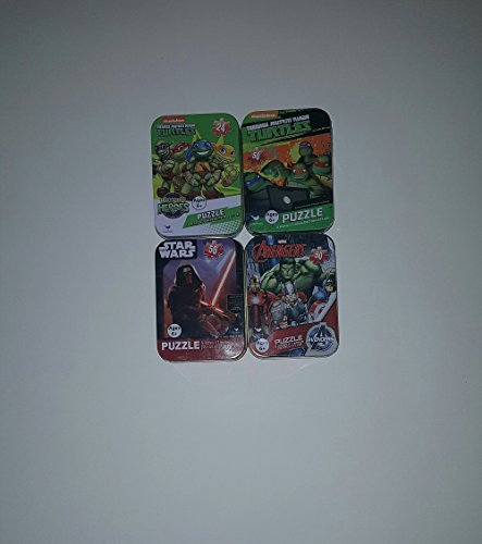 SET COLLECTORS TIN PUZZLES NICKELODEON