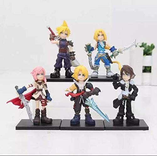 11-18cm (4.3-7.1 inch) - 5 Pcs/Set Final Fantasies PVC Action Figure Toys Final of Fantasy Toys Collectible Model Toy (4cm (1.6 inch))