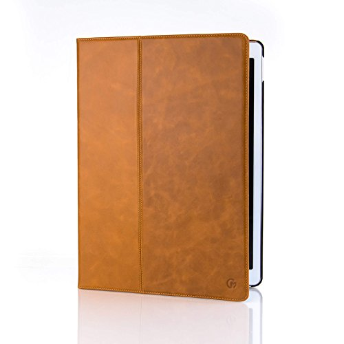 Casemade Apple iPad Pro 12.9 (2nd Gen 2017 Model) Premium Grade Luxury Real Italian Leather Cover / Case (Compatible Model Numbers: A1670, A1671) (Tan) (Apple Real)