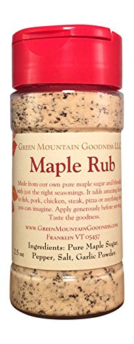 Maple Rub Spice Seasoning From Pure Vermont Maple Syrup (2.5) - Maple Sugar Pepper
