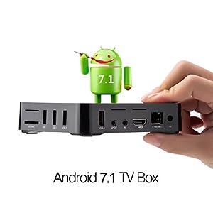 Brinnonac BN8 4K HD Smart Android 7.1 TV Box with Amlogic S905W Quad-core 2GB RAM 8GB ROM 2.4G Wifi 3D H.265 4K HD Player (2GB+8GB)