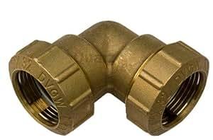 GEKA 480432VX de ángulo de rosca para tubería (90° AG g 1pulgadas DVGW 32mm, Gris, 18x 8x 13cm