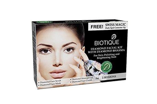 Biotique Diamond Facial Kit for Skin Polishing and Brightening Skin (Brightening Kit)