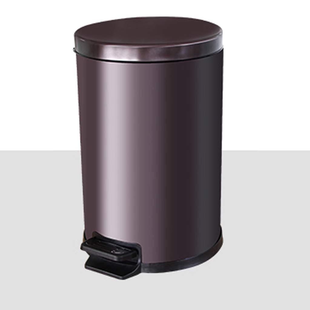 JTWJ ゴミ箱はステンレススチールのゴミ箱は蓋が付いている家のリビングの部屋の台所のトイレのトイレと固定フリップオフィスをペダルできます (色 : エレガントホワイト, サイズ さいず : 12L) 12L エレガントホワイト B07QZJBQ7R