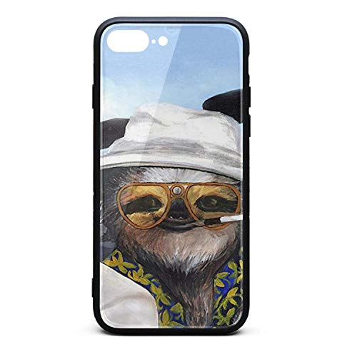 Nisen Sloth Driving Roadster iPhone case for iPhone 7/8 Plus Design for Girls Men Women TPU Frame Protective for Men Women Cover Shockproof Bumper Anti-Drop PC Frame for 5.5
