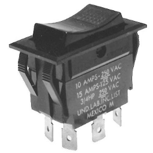Imperial 1126 Rocker Switch 7/8 X 1-1/2 Dpdt Ctr-Off Imperial Oven Southbend Steamer 421304