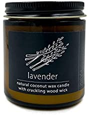 Crackling Wood Wick Candle Handcrafted with Organic Coconut Wax and Essential Oils