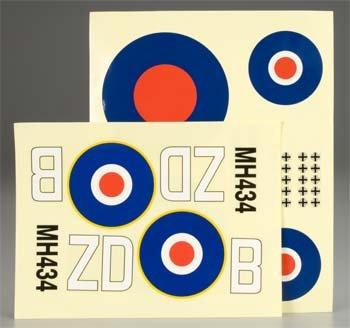 Decal Sheet Combat Spitfire .25 GP/EP ARF