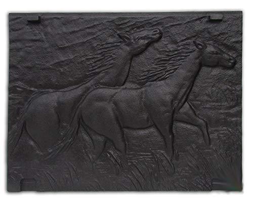 Trade Hub camino Piastra con placca di metallo parete Immagine Immagine Relief per camino di ghisa | Dimensioni: 465X 350mm Tradehub