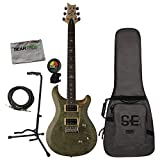 prs se 24 custom - PRS SE Custom 24 Trampas Green Electric Guitar Bundle w/Gig Bag, Cable, Stand, C