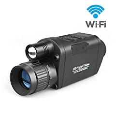 """Bestguarder WiFi hd digital night vision monocular for Hunting Infrared IR Camera & Camcorder 3.5-10.5x32 1150ft /350M viewing range with 1.5"""" TFT LCD Specification 4 modes (Photo,Video ,Playback,Delete) Outstanding optical clarity, high ..."""
